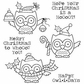 Darcie's Cling Mounted Rubber Stamp Set - Happy Owlidays