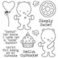 Darcie's Cling Mounted Rubber Stamp Set - Hello Cupcake