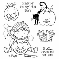 Darcie's Cling Mounted Rubber Stamp Set - Lots Of Smiles