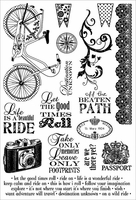 Darcie's Cling Mounted Rubber Stamps - A Beautiful Ride