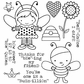 Darcie's Cling Mounted Rubber Stamps - Busy Bee