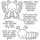 Darcie's Cling Mounted Rubber Stamps - Butterfly Caterpillar