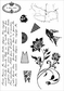 Darcie's Cling Mounted Rubber Stamps - Ephemera Backgrounds