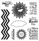 Darcie's Cling Mounted Rubber Stamps - Here Comes The Sun