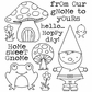 Darcie's Cling Mounted Rubber Stamps - Home Sweet Gnome