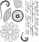 Darcie's Cling Mounted Rubber Stamps - Le Fleurs