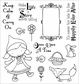 Darcie's Cling Mounted Rubber Stamps - Little Red