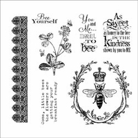 Darcie's Cling Mounted Rubber Stamps - Meant To Bee