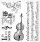 Darcie's Cling Mounted Rubber Stamps - Musically Inclined