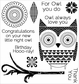 Darcie's Cling Mounted Rubber Stamps - Night Owl