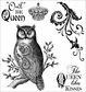Darcie's Cling Mounted Rubber Stamps - Owl Be Queen