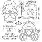 Darcie's Cling Mounted Rubber Stamps - Princess