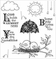 Darcie's Cling Mounted Rubber Stamps - Rainy Day Birds