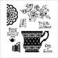 Darcie's Cling Mounted Rubber Stamps - Tea For Two