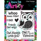 Dare 2B Artzy Clear Stamps - Whoo Loves You