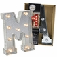 Darice Silver Metal Marquee Letters