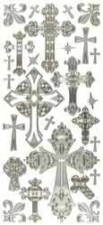 Dazzles Stickers - Silver Cross - Click to enlarge