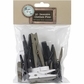 Decorative Clothespins Assorted Sizes - Black, White, Brown Assorted