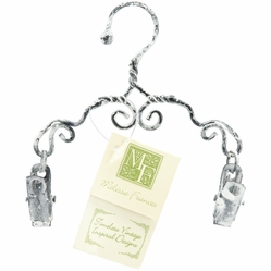 "Decorative Scroll Clip Hanger 4"" - Click to enlarge"
