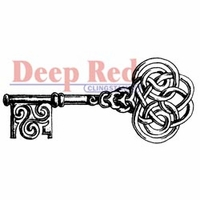 "Deep Red Stamp 1.25""x3"" - Celtic Key"