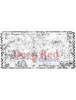 "Deep Red Stamp 1.5""x3"" - Grunge Ticket"