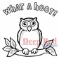 Deep Red Cling Stamp 2x2 - Hoot Owl
