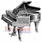 "Deep Red Stamp 2""x2"" - Piano Baby Grand"
