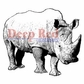Deep Red Cling Stamp 2x2 - Rhinoceros