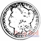 Deep Red Cling Stamp 2x2 - Silver Dollar