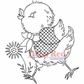 Deep Red Cling Stamp 2x2 - Spring Chicken
