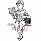 Deep Red Cling Stamp 2x3 - American Boy