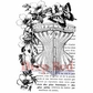 """Deep Red Stamp 2""""x3"""" - Corset Collage"""