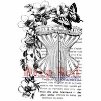 "Deep Red Stamp 2""x3"" - Corset Collage"
