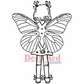 Deep Red Cling Stamp 2x3 - Fairy Time Out