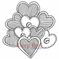 Deep Red Cling Stamp 3.25x3.25 - Bunch Of Love