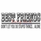 Deep Red Cling Stamp 3.5x1.75 - Best Friends Headline
