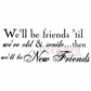 """Deep Red Stamp 3.5""""x1.75"""" - Old & New Friends"""