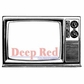 """Deep Red Stamp 3.5""""x2"""" - Classic TV"""