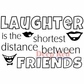 "Deep Red Stamp 3.5""x2"" - Laughter Between Friends"