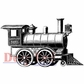 "Deep Red Cling Stamp 3""x2"" - Locomotive"