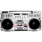 Deep Red Cling Stamp 3x1.5 - Boombox