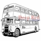 Deep Red Cling Stamp 3x3 - Double Decker Bus