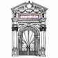 Deep Red Cling Stamp 3x4.25 - Palace Doorway
