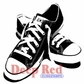 Deep Red Cling Stamp - All Star Sneakers