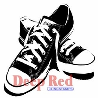 Deep Red Stamp - All Star Sneakers