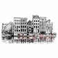 Deep Red Cling Stamp - Amsterdam Water Front