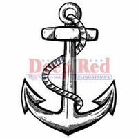 Deep Red Cling Stamp - Anchor