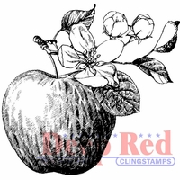 Deep Red Cling Stamp - Apple