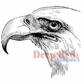 Deep Red Cling Stamp - Bald Eagle