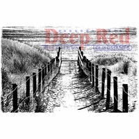 Deep Red Cling Stamp - Beach Walk